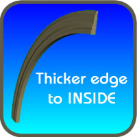 Flexible Base Molding Bending with the Thick Edge In