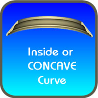 Flexible Crown Concave Curve