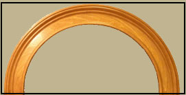 flexible moulding in pine stain grade after staining