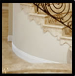 Straight flexible base moulding
