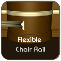 Choose Flexible Chair Rail Molding for Curved Walls