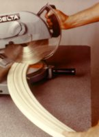 Cutting flexible moulding